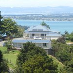 View from a hill to Kauri Villas