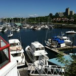 "View of False Creek from our ""porch"""