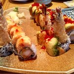 Delicious sushi bursting with flavor!