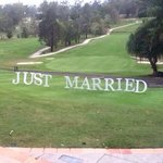 Just Married signs provided at an option from Hillstone