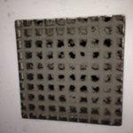 Dirty vents... In bathroom...
