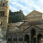 Amalfi's wonderous duomo Sant'Andrea from hotel window
