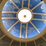 Looking up at the dome from the orchestra floor
