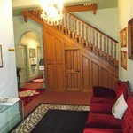 Authentic panelling and staircase
