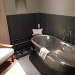 Silver roll top bath in junior suite