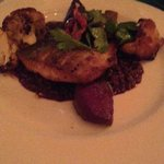 Seared Arctic Char with Le Puy Lentils, Roasted Beets