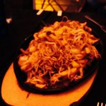 This is the pan fried crispy chicken chow mein