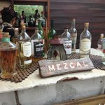 Wonderful selection of Mezcal.