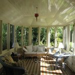 The conservatory is a great place to enjoy tea and admire the garden