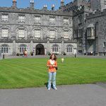 Granddaughter Brooke at Butler Castle, Kilkenny one block from Butler Court