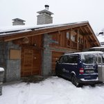 View of entrance to chalet