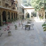 This is the dining area where beautiful rajasthani folk music is played in the evenings