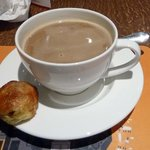 coffee with eccles cake