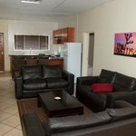 Big kitchen and lounge areas...