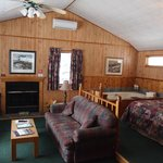 AJ's cabin is the perfect combination of privacy and comfort.