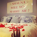 The B&B owner decorated the room for my surprise proposal!!