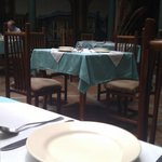 Tables with REAL table linen