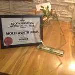 ST Austell Brewery Acommodation House Of The Year Award