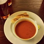 Tomato Basil soup as a starter (very good)