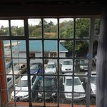 View of car park from my room