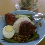 Delicious Nasi Lemak near to the Longhouse
