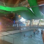 1 of the larger slides above the swimming pool