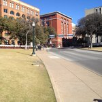 Dealey Plaza where Kennedy was assassinated (and 6th Floor Museum) only minutes away