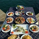 Enjoy a frsh meal next to the sea