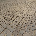 Cobblestone outside the hotel