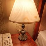 stained lamp and walls