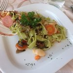 Hand made pasta with scallops-simply the best pasta I have ever eaten!