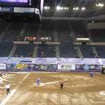 view across the venue from my seats section 115 row T seat 5 at a monster jam event