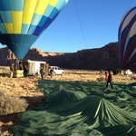 Hot air balloon festival in January