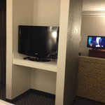 two tv's in two room suite.