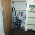 While I was waiting for the lift, the cupboard opened on its own was slightly freaked out I had