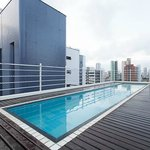 the rooftop pool and deck...