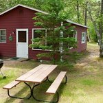 Every cabin has a private picnic table and grill