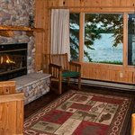 Several cabin have fireplaces