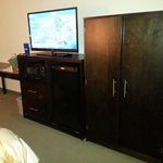 Flat screen tv with Direct TV service, Fridge, Micro, Wardrobe