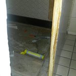 Syringes used for drugs in bathroom . Good housekeeping.