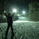 Night skiing is awesome!