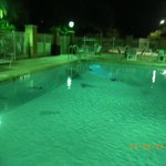 No pool lights on at nite, pool area not sercured