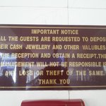 They do not take ownership of valuable deposited with them?