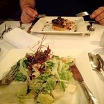 caesars salad for me and mushroom to start with for hubby