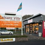 Leisure Ville Entrance and Bruce's Cafe