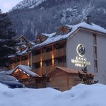 La Grand Aigle Hotel, Villeneuve Serre Chevalier in the snow