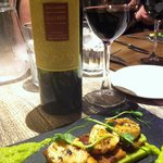 Scallops & Pork Belly starter... great Malbec