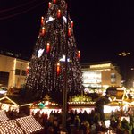 This is the Cristmas Market and the biggest Christmas tree in the world