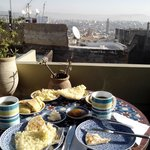 Breakfast on the rooftop