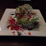 Wedge salad with blue cheese. Delicious.